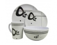 16 pc Caravan Melamine Tableware set, Abstract