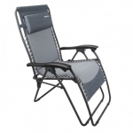 Charcoal Reclining chair with adjustable headrest
