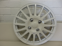 14″ White spoked wheel trims