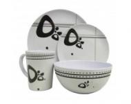 16 pc Caravan Melamine Tableware set, Abstract