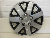 14″ Black – silver wheel trim